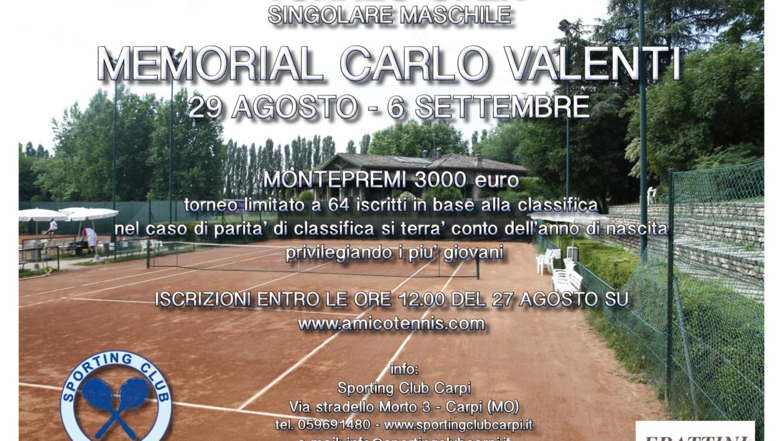 """TORNEO OPEN """"MEMORIAL CARLO VALENTI"""" montepremi 3.000 €"""